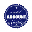 Постер, плакат: Invalid account number stamp
