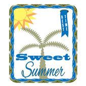Sweet summer background — Stock Vector