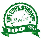 The pure organic product stamp — Stock Vector