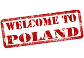 Welcome to poland stamp — Stock Vector