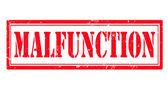 Malfunction stamp — Stock Vector