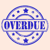 Overdue stamp — Stock Vector