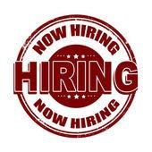 Now hiring stamp — Stock Vector