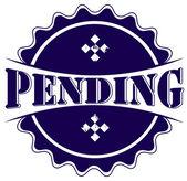 Pending stamp — Stock Vector