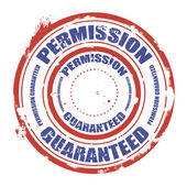 Permission guaranteed stamp — Stock Vector