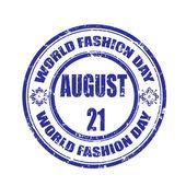 Welt mode tag stempel — Stockvektor