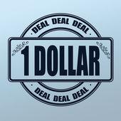 Deal ein-Dollar-Stempel — Stockvektor
