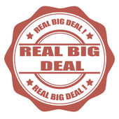 Real big deal stamp — Stockvektor