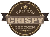 Crispy chicken stamp — Stockvektor