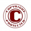 Copyright protected stamp — Stock Vector #48302783