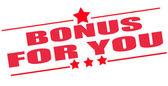 Bonus for you stamp  — Stock Vector