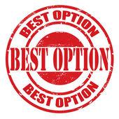En iyi seçenek damgası — Stok Vektör