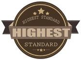 Highest standard stamp — Stock Vector
