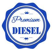 Premium diesel stamp — Stock Vector