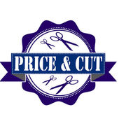 Price and cut stamp — Vecteur