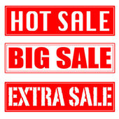 Big sale, hot sale, extra sale stamp — Stock Vector
