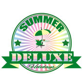 Summer deluxe stamp — Stock Vector