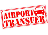 Airport transfer stamp — Stock Vector