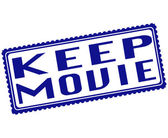 Keep movie stamp — Stok Vektör