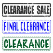 Final sale clearance stamp — Stock Vector #48792119
