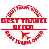 Best travel offer stamp — Vecteur