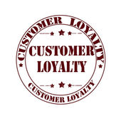 Customer loyalty stamp — Stock Vector