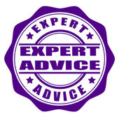 Expert advice stamp — Stock Vector