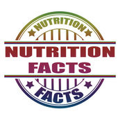 Nutrition facts stamp — Vettoriale Stock