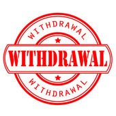 Withdrawal stamp — Stock Vector