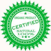 Selo de produto orgânico — Vetor de Stock