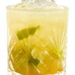 Yellow cocktail with ice crash — Stock Photo