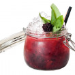 Red Cocktail in Jar Glass — Stock Photo