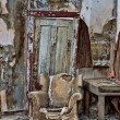 Stock Photo: Decayed chair in Randsberg