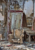 Decayed chair in Randsberg — Stock Photo