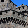 Stock Photo: Medieval castle of Fenis in Aostvalley in Italy