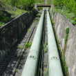 Stock Photo: Hydraulic pipes of hydroelectric power