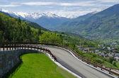 Vista da estrada da montanha — Foto Stock