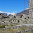 Roman Theatre of Aosta — Stock Photo