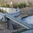 Stock Photo: Dam emptied