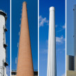 Stock Photo: Industrial chimneys