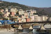 Gênes et le bisagno riiver — Photo