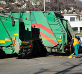 Municipal garbage collector — Stock Photo