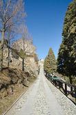 Estrada para o mosteiro — Fotografia Stock