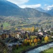 Villeneuve in the Aosta Valley — Stock Photo