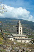 Church of Santa Maria Assunta - (Villeneuve) - Aosta — Stock Photo