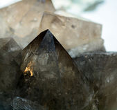 Smoky Quartz Crystals — 图库照片