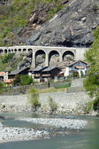The village of Borgo - Montjovet - Aosta Valley - Italy — Stock Photo