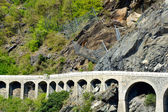 The village of Borgo - Montjovet - Aosta Valley - Italy — Stock Photo