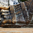 Stock Photo: Bronze sculpture of foot
