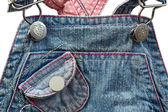 Jean overall for small child — Stock Photo